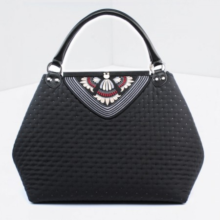 GODDESS: Large Handbag With Embroidery