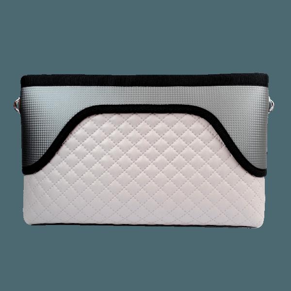 FLOWERBAG: Silver Clutch