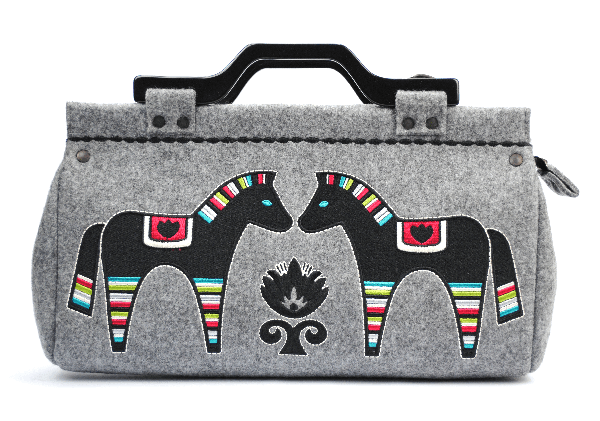 HORSES: Handmade Emroidered Duffel
