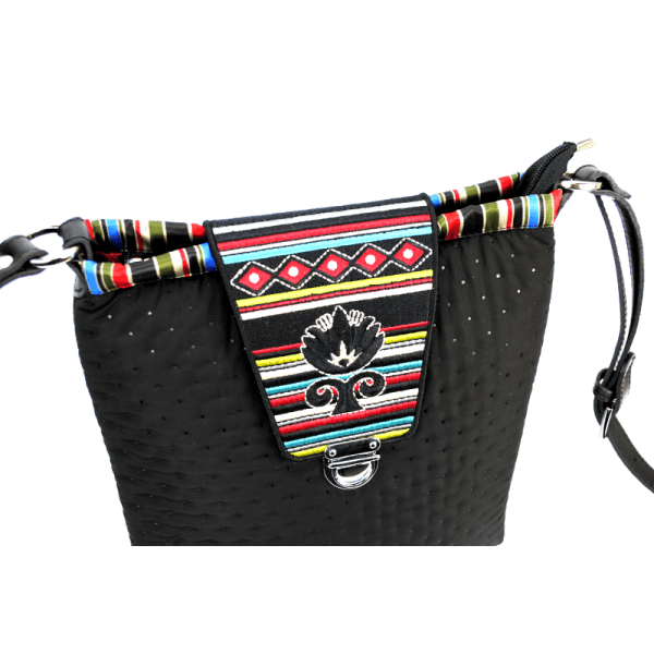 BEAUTY SQUARED: Handmade cross-body bag